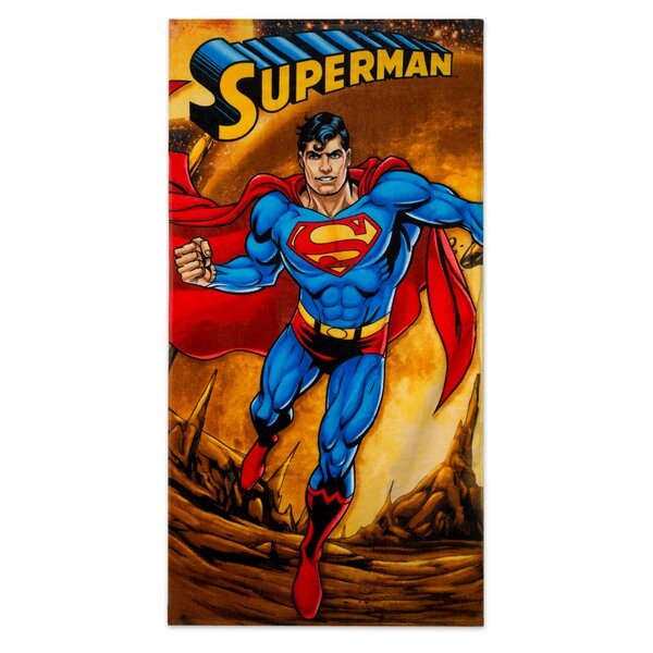 Superman Firely Planet 100% Cotton Beach Towel by Crover